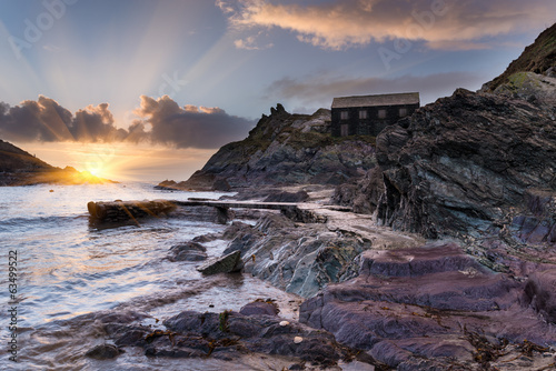 canvas print picture Polperro in Cornwall