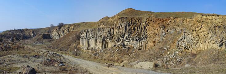 Panorma of Racos Basalt Columns