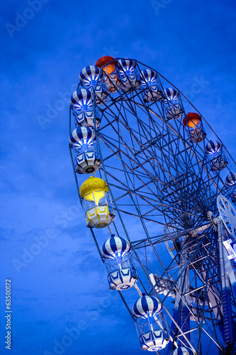 Ferriswheel at twilight in Playland