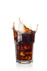 Splash of Cola with ice