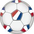 Fußball blau-weiß-rot 2