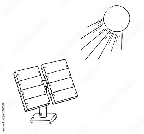 solar power and sun