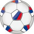 Fußball blau-weiß-rot 3