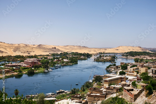Deurstickers Algerije Life on the River Nile in Egypt