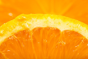 macro photo of an orange for backgrounds
