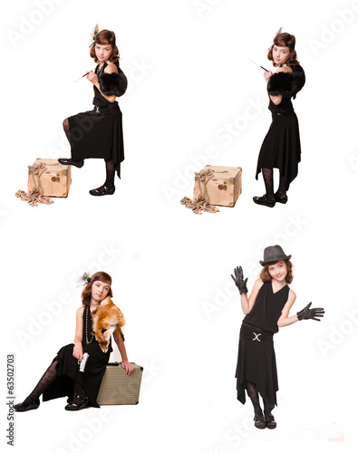 A girl dressed as a gangster,collection
