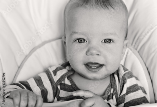 cute baby boy smiling
