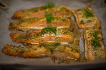 Seasoned savory fish fillets