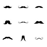 Fototapety Vector black mustaches icons set