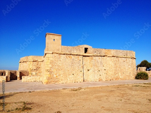 castle of Sant Jordi d'Alfama in Spain