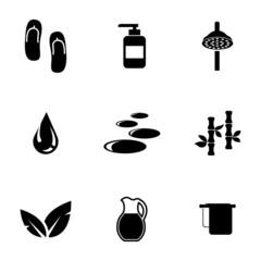 Vector black spa icons set