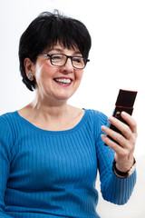 Modern woman using mobile phone