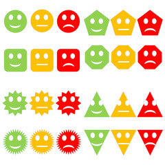 Set of colorful smileys