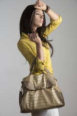 fashion woman with bag