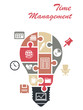Time management infographics concept