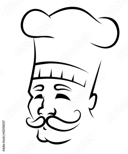 Sketch of a chef with a moustache