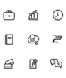 Set of business and shopping icons