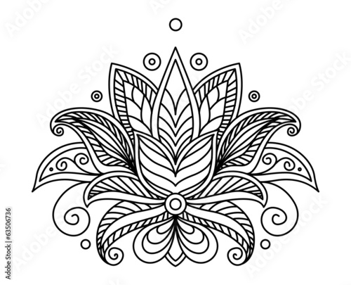 Turkish or persian floral design