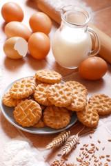 frollini all'uovo e latte fatti in casa