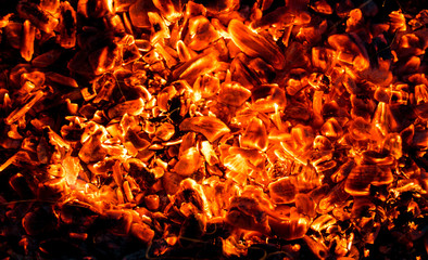background of burning coals