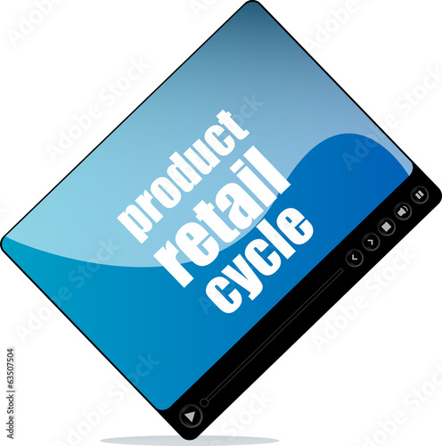 Video media player for web with product retail cycle word