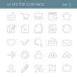 User interface vector icon line art design pack. Lineart style