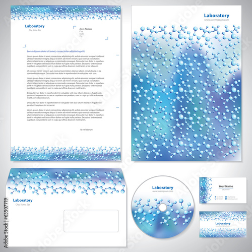 Universal lue-violet corporate identity template.