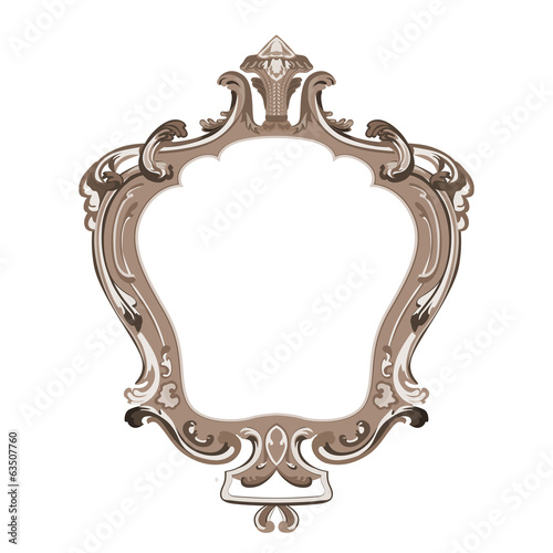 Vintage Floral Frame vector design. Flourish ornament.