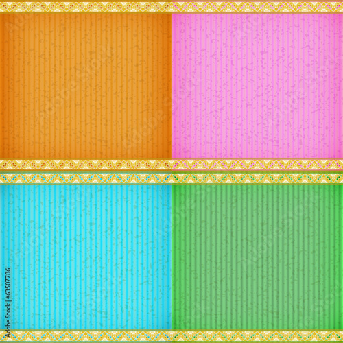 Gold water lily card board texture