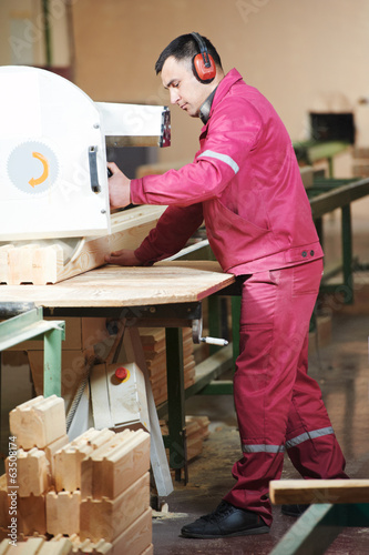 woodworking of beam at factory