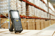 Leinwanddruck Bild - barcode scanner at warehouse