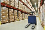 pallet stacker truck at warehouse - 63508517