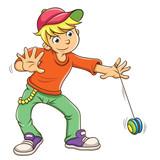 Fototapety Little boy playing yo yo