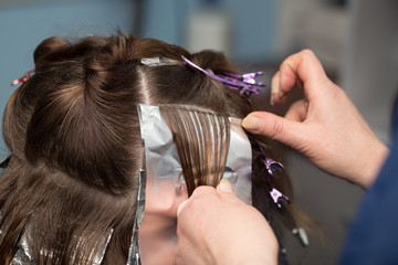 weave hair in a beauty salon