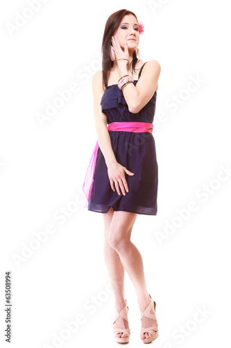 Girl in summer style. Fashion photo isolated