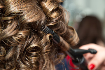 Women's hair in salon