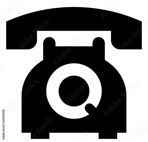Telephone vector icon