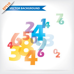 Colorful vector design for workflow layout, diagram, number opti