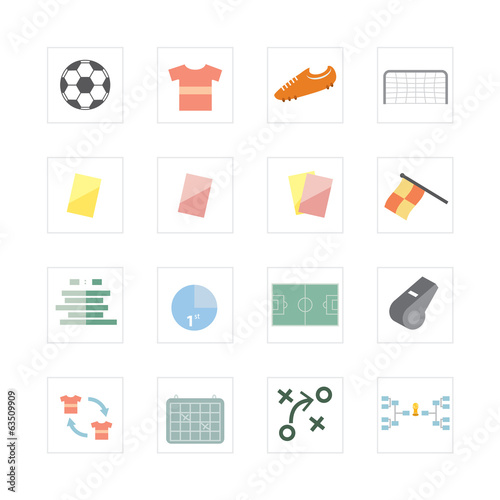 Football-soccer icons set