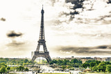 Panoramic view of Eiffel tower