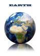 Earth globe map
