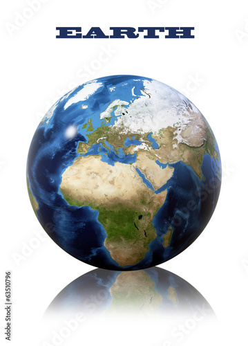 Earth globe map