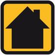 Haus Button Symbol Logo