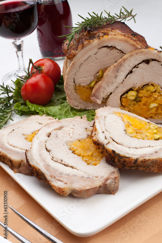 Staffed Pork Loin Roulade