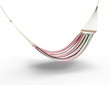 Pink Worn Hammock Isolated - 63511572