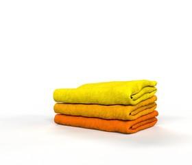 Three Bright Yellow Towels