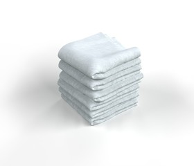 White Towels Stacked