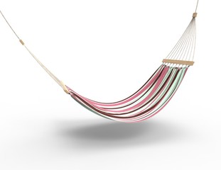 Pink Worn Hammock Isolated