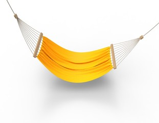 Bright Yellow Hammock Top View