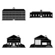 Set Of Different Building Silhouettes Isolated